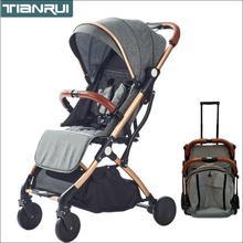 купить TIANRUI baby stroller folding portable trolley umberlla mini lightweight stollers stroller on the plane по цене 5392.86 рублей
