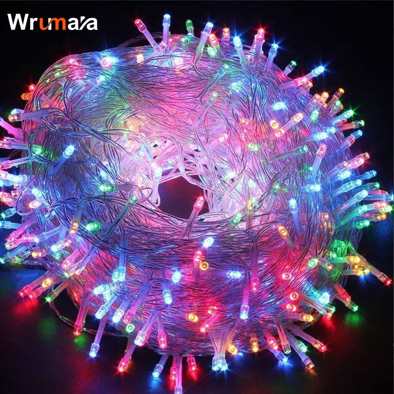 Wrumava 20M 30M 50M 100M Fairy LED String Light Waterproof AC 220V Christmas Lights Holiday Decoration Indoor Outdoor Lighting