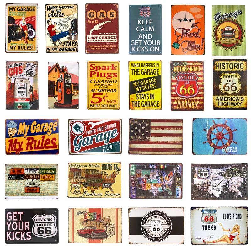 Car Wash Plaque Poster Metal Signs Retro Tin Plate Pub Garage Decor