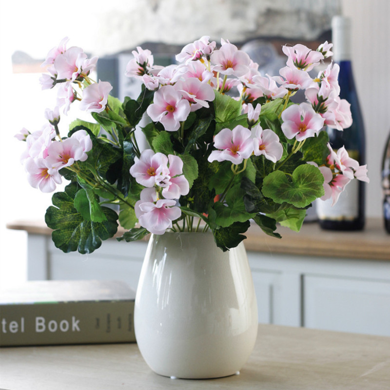 one bouquet diy christmas Garlands vases for home wedding decoration accessories cheap artificial plastic flowers in Artificial Plants from Home Garden