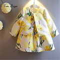 Conjuntos de roupas crianças crianças menina roupas 2017 meninas define marca floral princesa crianças agasalho (jacket + dress) meninas conjuntos de roupas