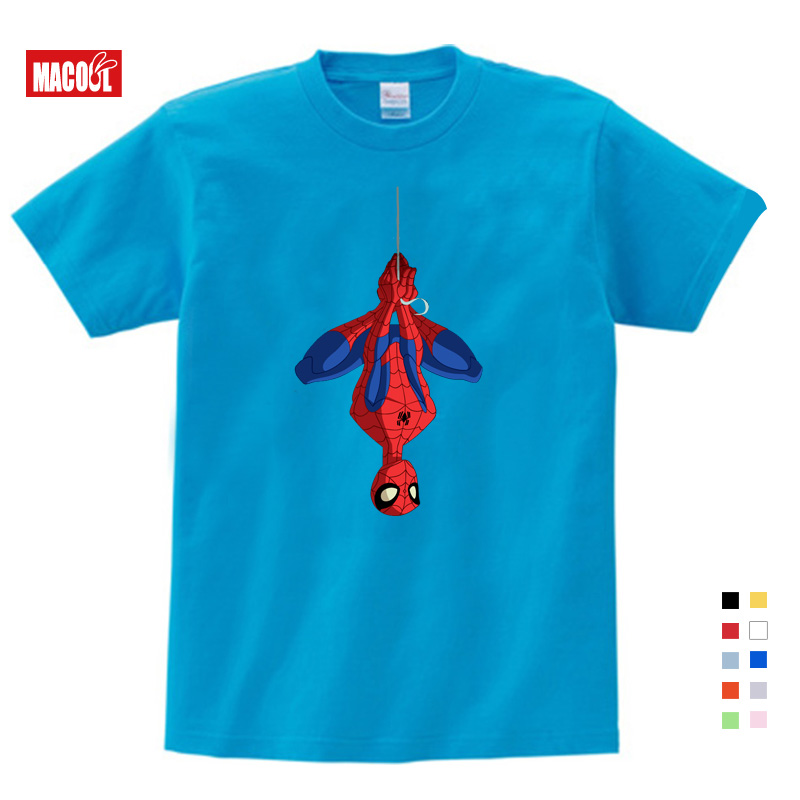 Free Shipping Boys 39 Spiderman Ironman Captain America T Shirt Summer Short Sleeve Superhero Tee Kids Cotton T shirt 3T 9T Size in T Shirts from Mother amp Kids