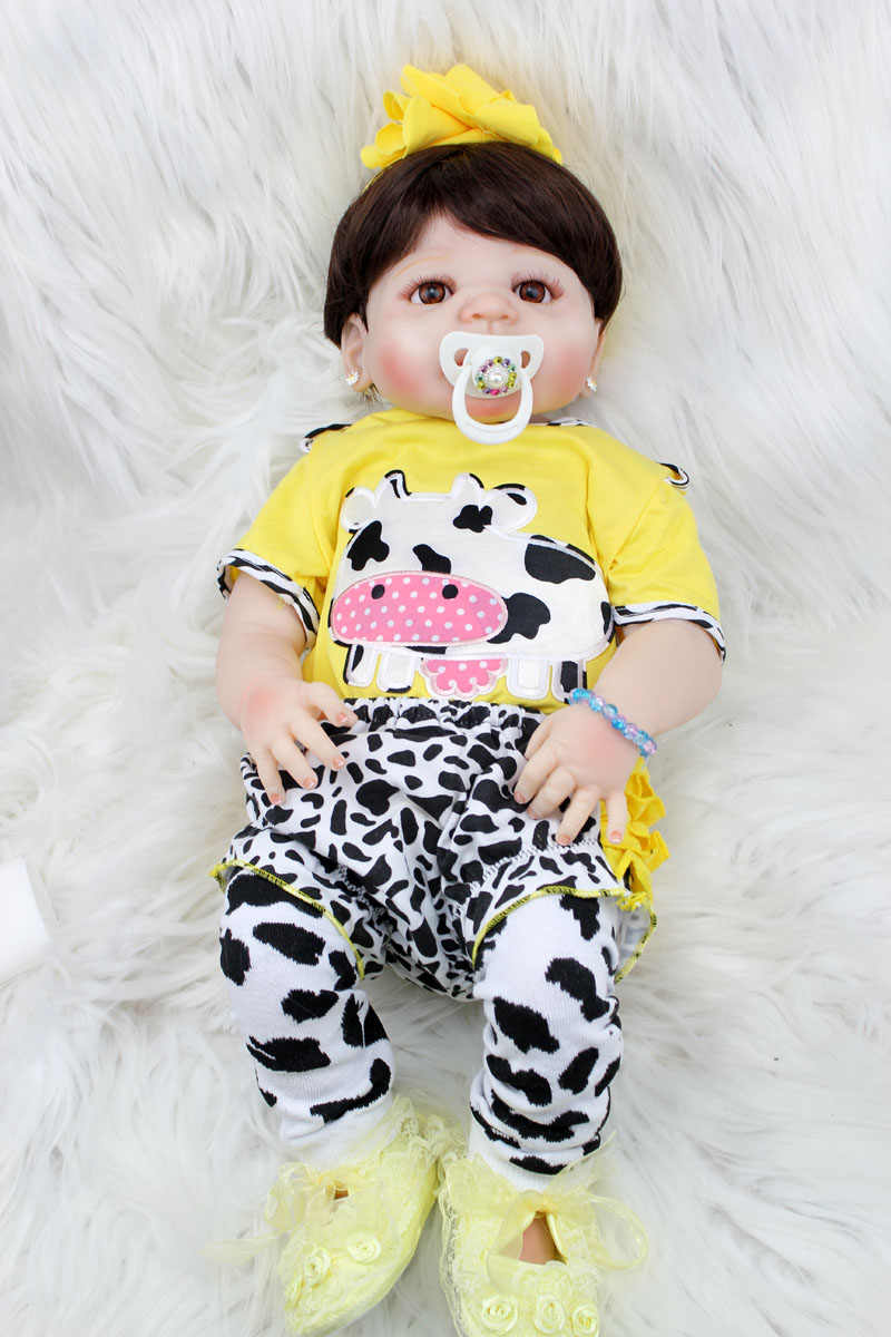 55cm Full Body Silicone Reborn Baby Doll Toy Newborn Princess Girls Babies Doll Birthday Gift Bathe Toy Kids Bonecas Brinquedo 55cm silicone reborn baby doll toy realistic 22inch newborn princess babies doll girls bonecas birthday gift present play house