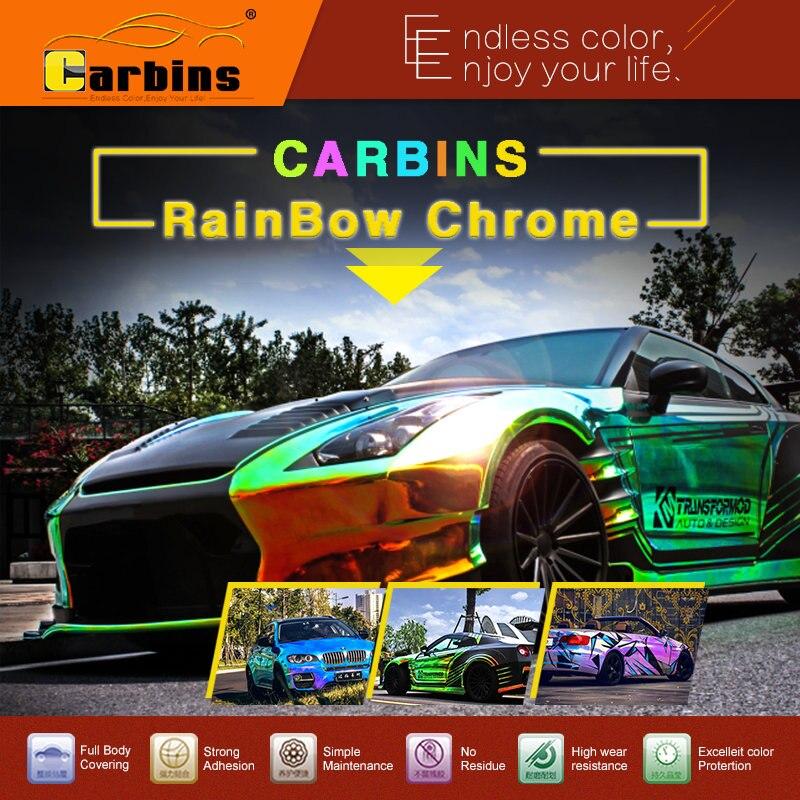 Carbins фильм Радуга обруч автомобиля винила крома зеленый цвет золота, новые продукты