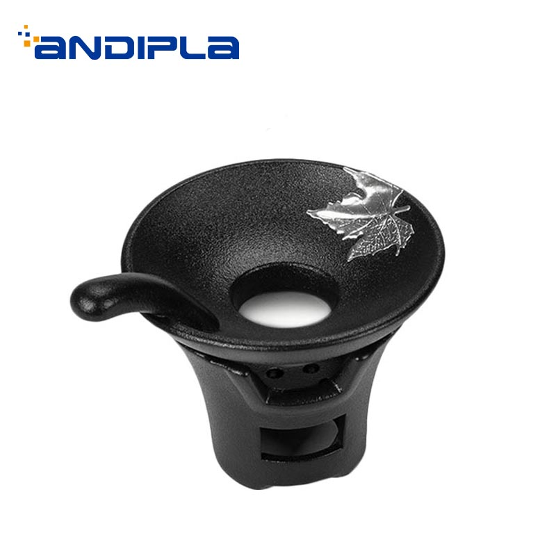 Creative Vintage Tea Strainer Ceramic Black Pottery Silver Maple Leaf Filter Chinese Kung Fu Tea Set Accessories Coffee Filters