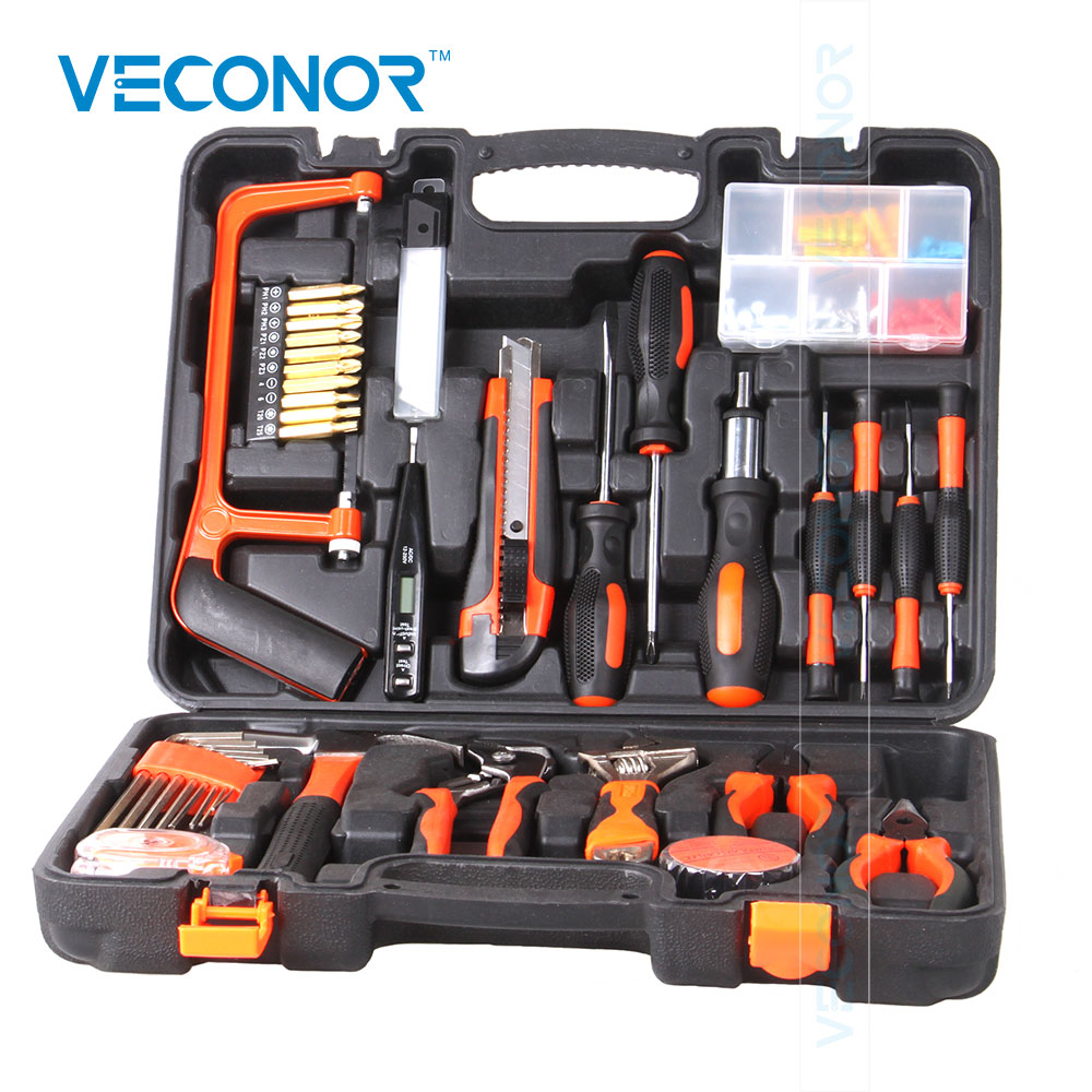 Combination Hand Tools Kit Set Multifunctional Woodworking Metalworking For Home DIY Use Repairing Most Details
