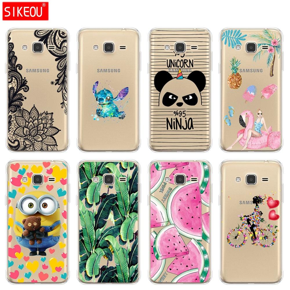 Galleria fotografica SIKEOU Soft TPU Case for Samsung J3 2015 Case Silicone Cover for Samsung Galaxy J3 2016 Case J320 J320F Silicone Cover