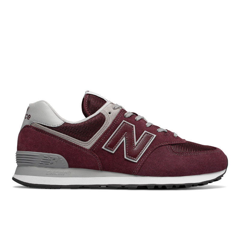 NEW BALANCE Mens Unisex ML574EGB, Free And Time Sportwear, Maroon Shirt