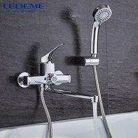 LEDEME Bathroom Fixture Sets Faucets 1 SET Set Bath Shower Tap Bathroom Shower Set Bathtub Faucet