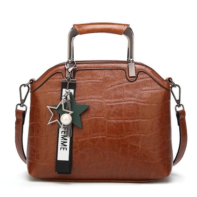 Barhee Luxury Crocodile Pu Leather Handbags For Women Tote 2018 Hard Alligator Hand Bag Shell