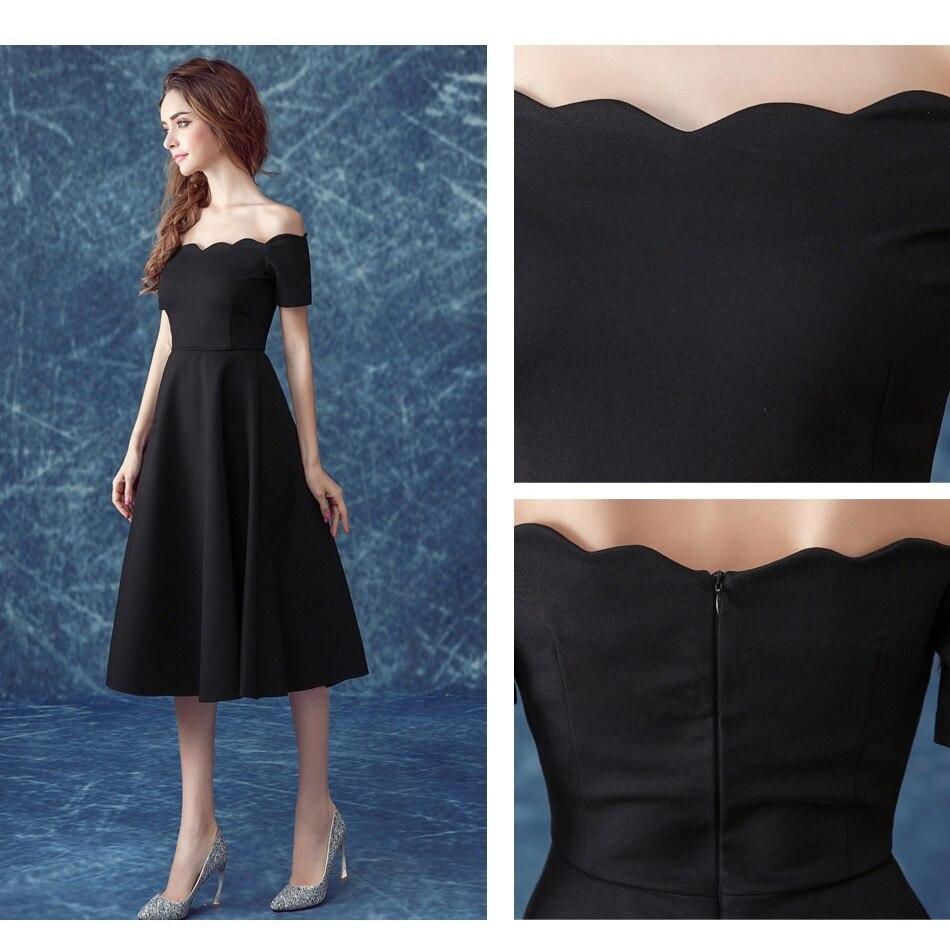 SOCCI WEEKEND Little Black Dresses Evening Dress Tea length Formal ...