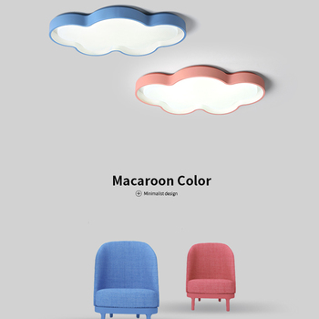 New White/Pink/Blue/yellow Clouds Modern Led Ceiling Lights For Bedroom Studyroom Childrenroom Kids Rom Home Deco Ceiling Lamp