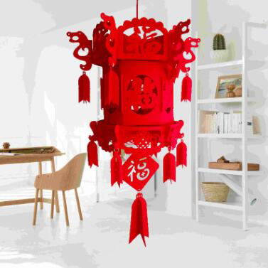 Diy Nonwovens Material Chinese New Year Lantern Flocking ...