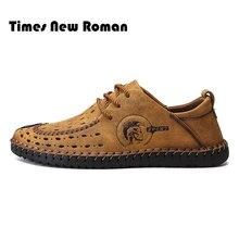 950250651 Times New Roman Летние Удобные Для мужчин повседневная обувь кроссовки Для  мужчин качество корова замшевая обувь Для мужчин Туфл..