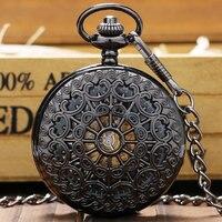 Nueva Moda Retro Aleación Mecánica Esqueleto Reloj para Hombres Mujeres Señoras de La Muchacha Collar de Cadena de Reloj de Bolsillo Relojes P825C