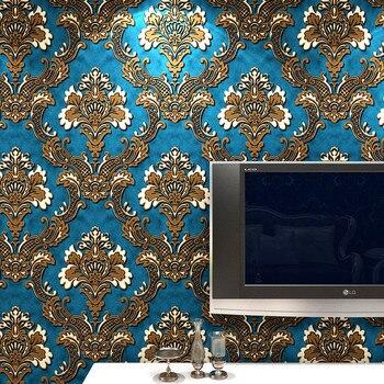 beibehang Gold Beige glitter damask metallic papel de parede 3d wallpaper wallcoverings roll non-woven wall paper
