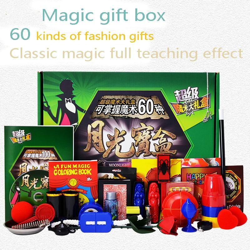 [Nouveau] accessoires magiques ensemble avec boîte pour magiciens scène de rue magie formation classe cadeaux pour enfants