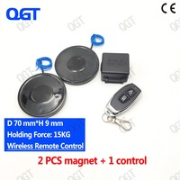 KK 70/9 2pcs The wireless remote control electro magnet Electromagnet cylinder magnets custom electric magnet suck License plate