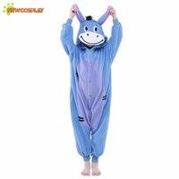 Newcosplay Kinder Nachtwäsche Niedlich Overall Unisex Cosplay Kleidung Cartoon Esel Pyjamas Kinder Anime Cosplay Kostüm