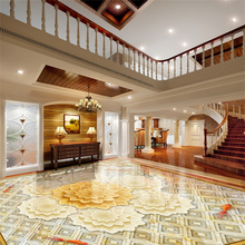 Large painter home decoration painting three - dimensional parquet 3D floor bedroom living room bathroom floor film 3d flooring free shipping 3d romantic sea bathroom floor painting thickened bedroom living room study lobby flooring wallpaper mural