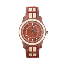BEWELL Fashion Unisex Alloy Wood Watch Men And Women Luxury Round Quartz Wristwatch 3 Bar Water Risistance Auto Date W1053A