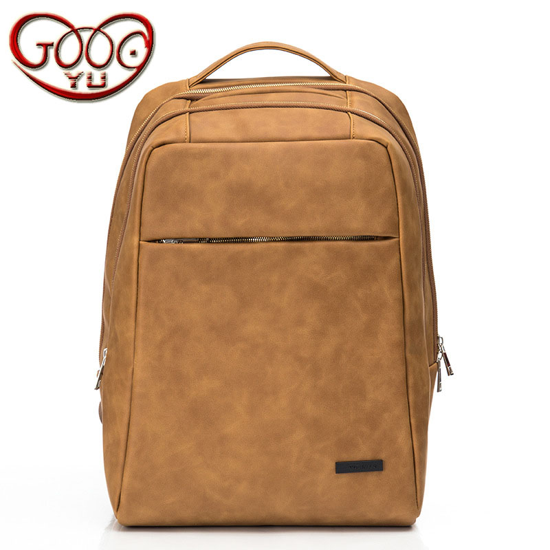 High-quality fashion hit new high-quality PU leather shoulder bag Korean trend of high-capacity college wind computer bag 2017 winter fashion leisure quality waterprof pu men backpack college windbag trend korean version of the tide travellaptop bag