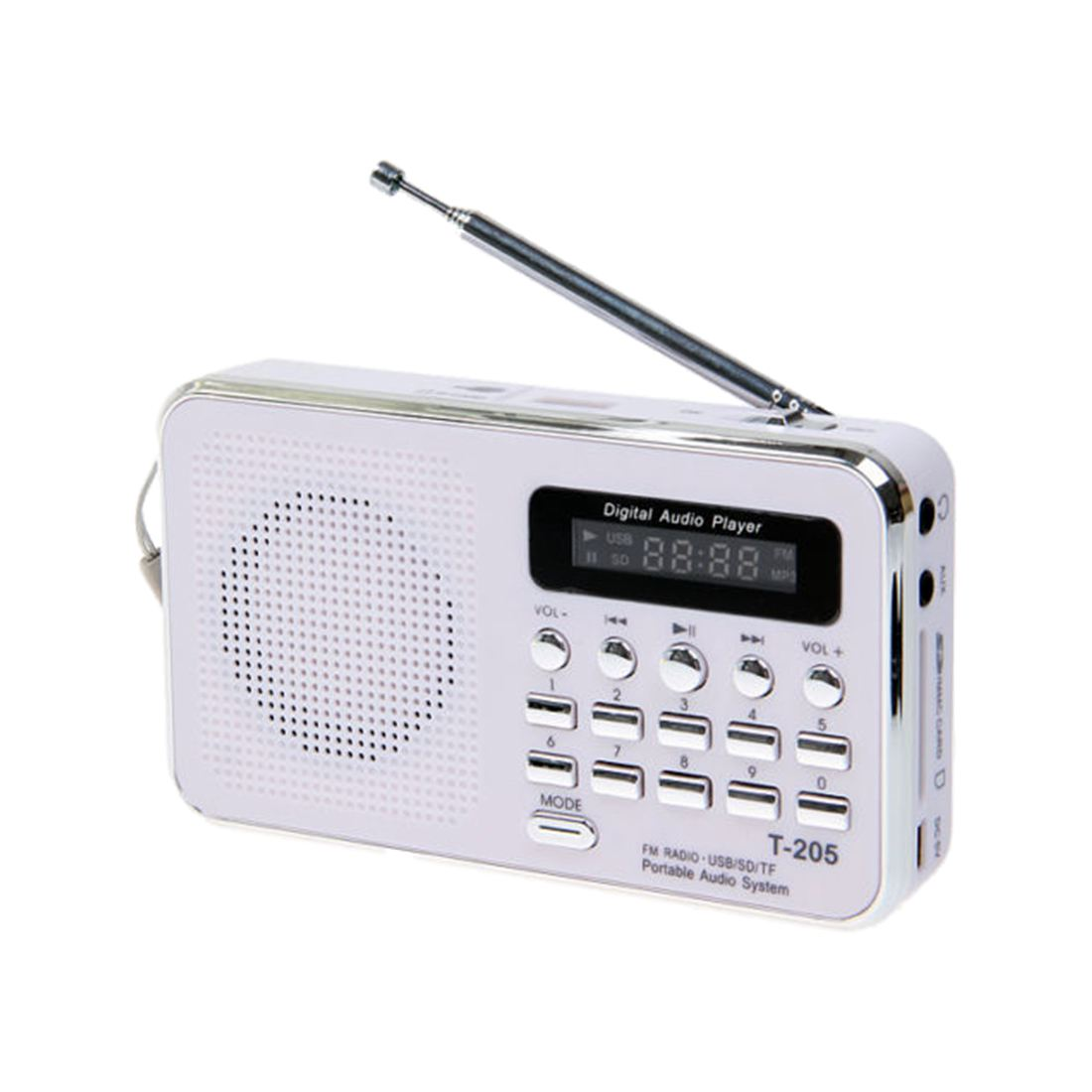 Portable Stereo Mini Speaker Digital FM Radio for Mobile Phone Tablet Laptop PC