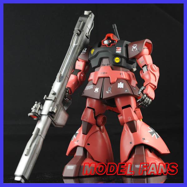 FÃS MODELO FRETE GRÁTIS Auto assambled Kit, modelo GUNDAM MG1: 100 Char Aznable Cometa Vermelho uso DOM figura de ação
