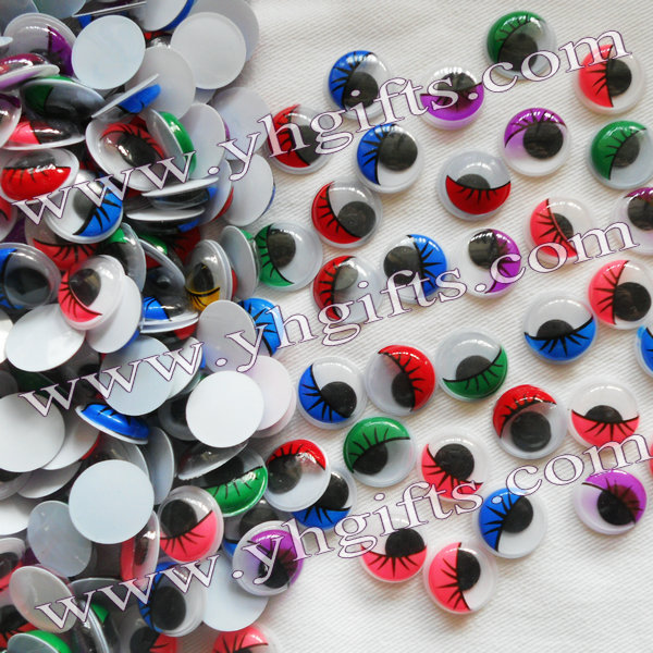 500PCS/LOT,1.5cm colorful eyelash eyeball,Colorful wiggle eyes,Doll eyes,Craft work,Craft material.Handmade accessories.OEM