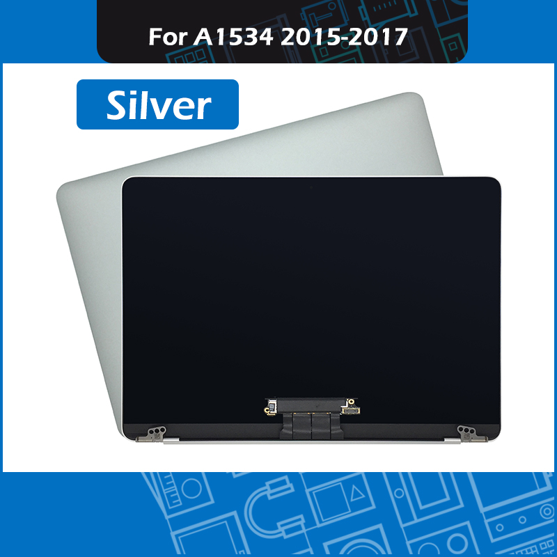 """The Latest  Silver A1534 LCD Screen Full Assembly for Macbook Retina 12"""" A1534 Display 2015 2016 2017 EMC 2746"""