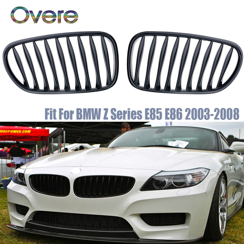 Grilles de course de pare-chocs avant de voiture Overe pour Z4 E85 E86 BMW M accessoires de Performance sport automobile Z4 2.0i 2.2i 2.5i 2.5si 3.0i 3.0si