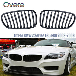Overe Car Front Bumper Racing Grills For Z4 E85 E86 BMW M Performance Accessories Motorsport Z4 2.0i 2.2i 2.5i 2.5si 3.0i 3.0si