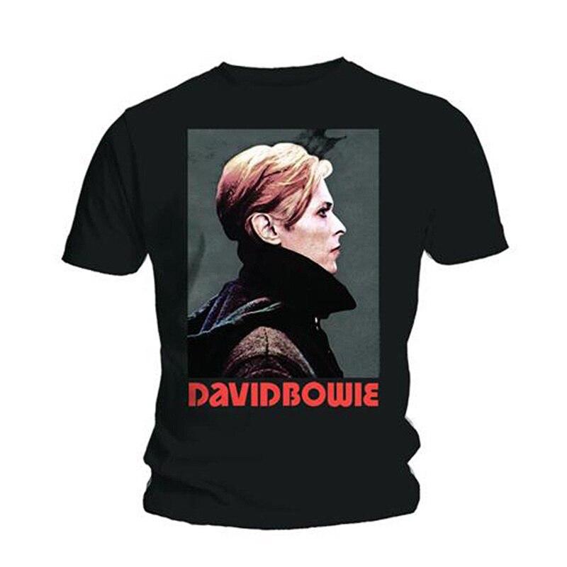 T Shirt Shop Short Men David Bowie Low Portrait Rock Licensed O-Neck Fashion 2018 Tees
