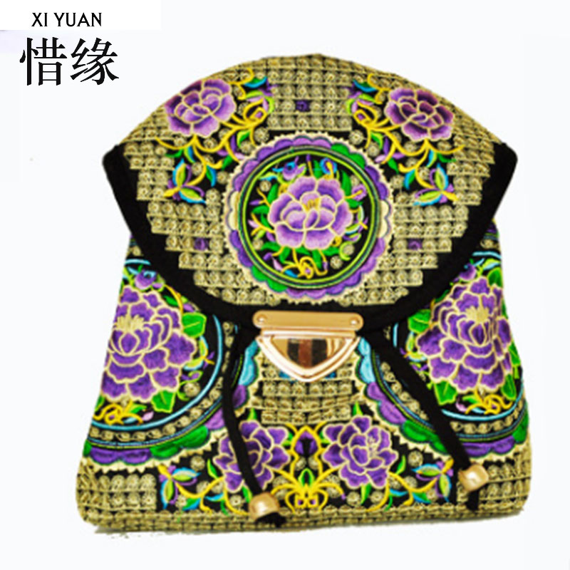 XIYUAN BRAND luxury and fashion Women Backpacks Vintage Handmade Embroidered Bags Ladies Embroidery canvas travel Bags backpack newest hmong embroidered women backpack black canvas ethnic casual travel backpack fashion vintage laptop bags