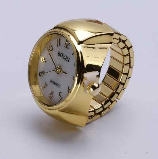 b0a644e1e39 Detail Feedback Questions about Finger Ring Watch Luxury Quartz Watch  Clocks Round Elastic Finger Ring Watches Gold Men Women s Gift 10pcs lot on  ...