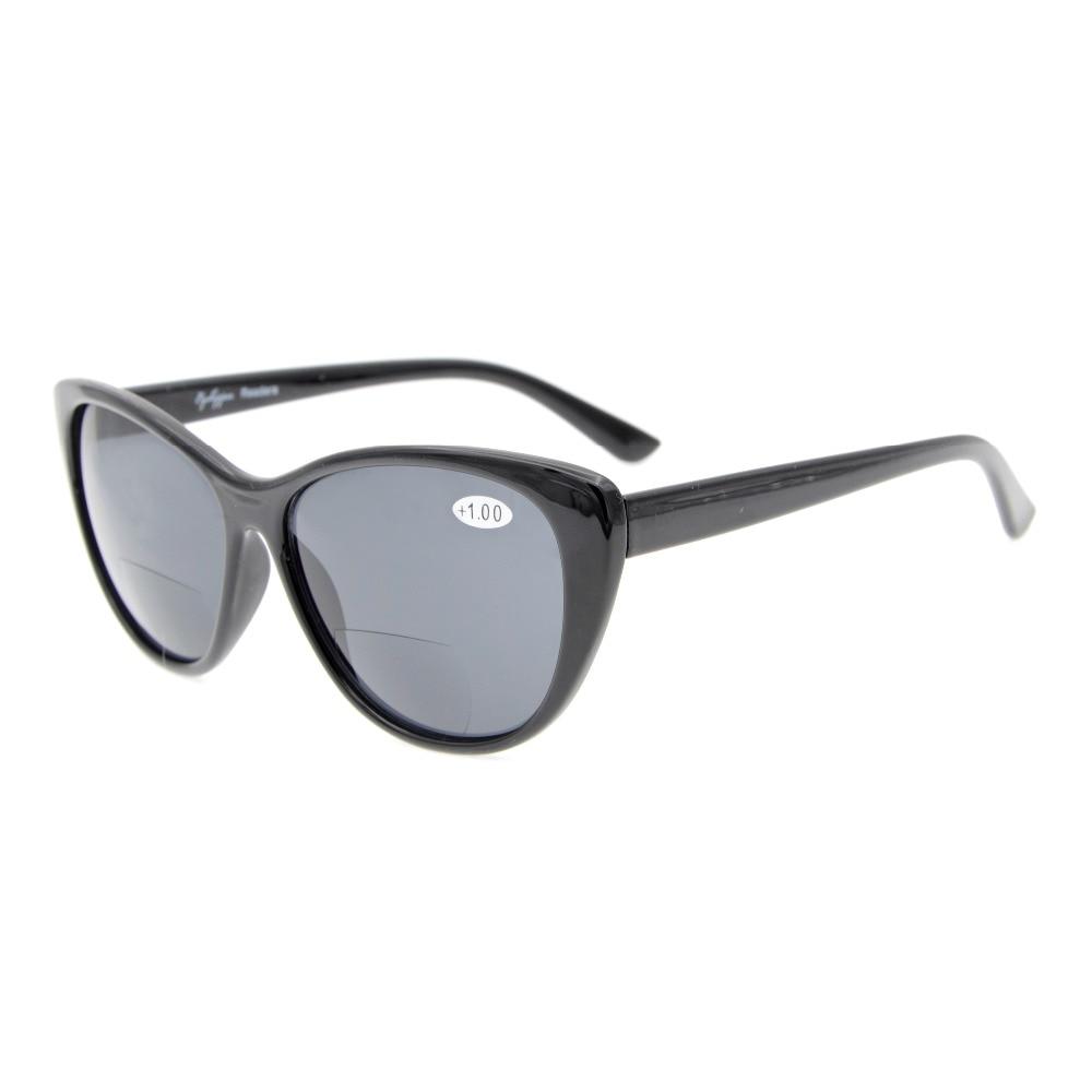 S033 Eyekepper Cat-eye Style Bayan Bifokal Güneş Gözlükleri + 1.0 - Elbise aksesuarları