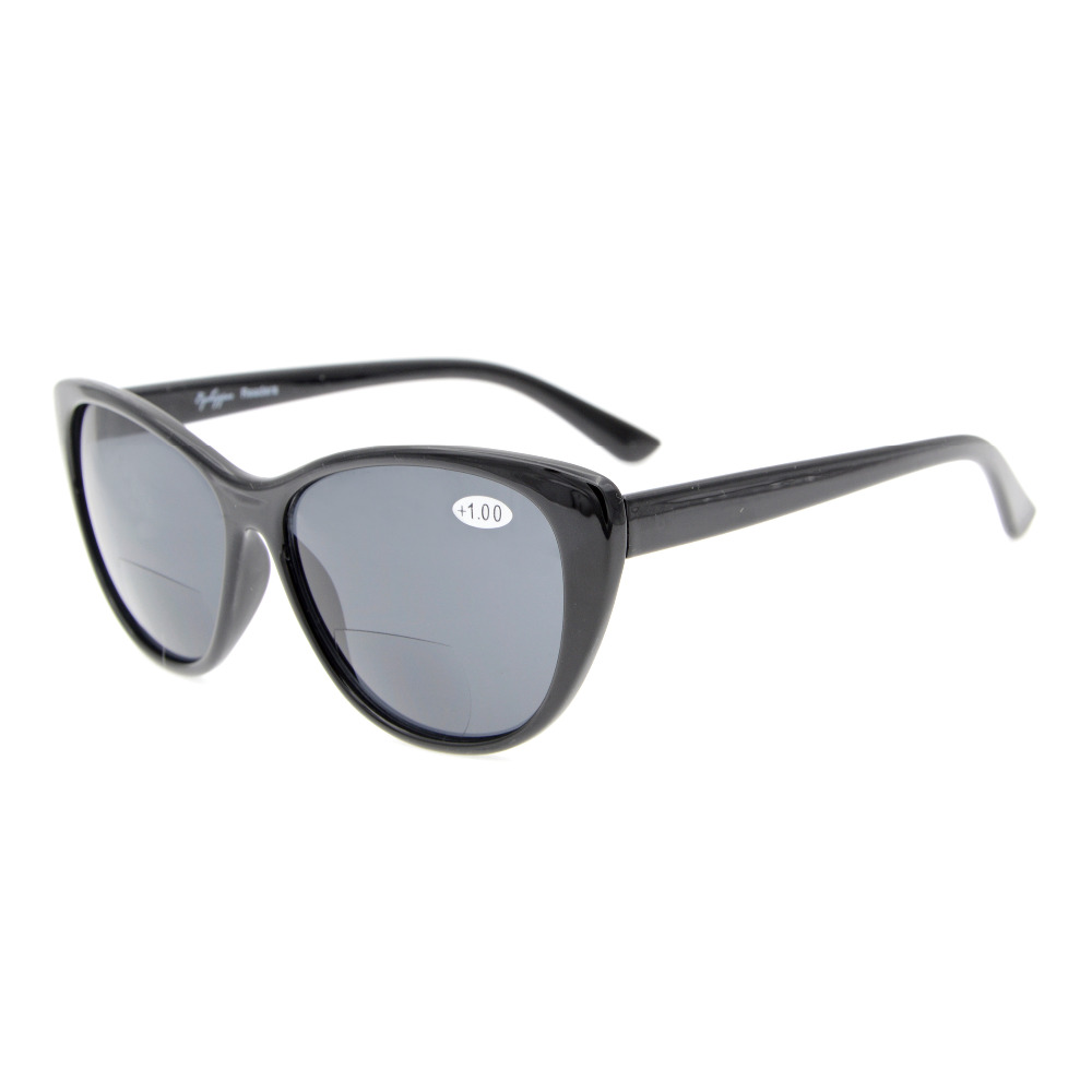 S033 Eyekepper Cat-eye Style Womens Bifocal Sunglasses +1.0/1.25/1.5/1.75/2.0/2.25/2.5/3.0