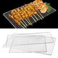 VFGTERTE barbecue grillades en acier inoxydable grilles cuisine plein air Camping légumes viande poisson fruits de mer cuisson BBQ outils