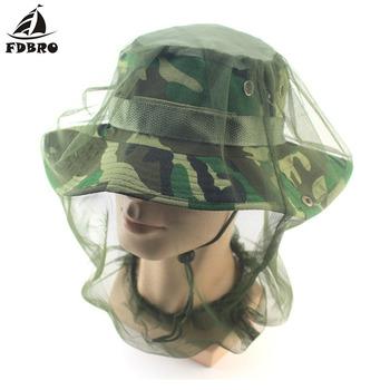 FDBRO nowy owad przeciw komarom kapelusz wędkarski siatka siatka na głowę ochraniacz na twarz czapka pokrowiec na główkę kapelusz rybaka bezpieczne Trave Camping Mask tanie i dobre opinie 01120129 Stałe Wiatroszczelna Poliester