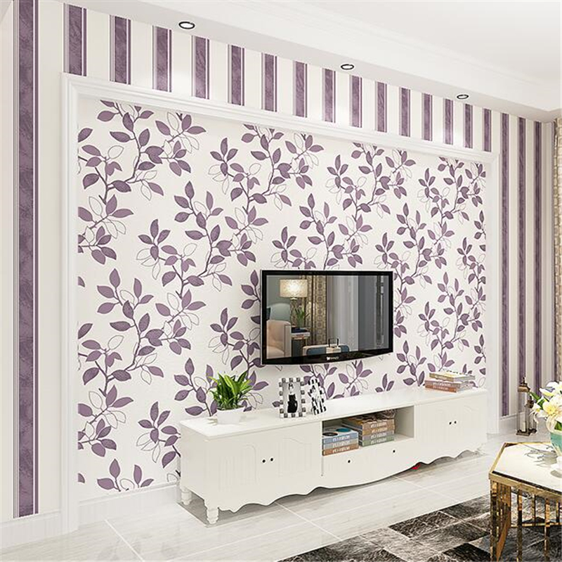 beibehang Modern pastoral warm bedroom wallpaper full floor living room non - woven thick wallpaper TV film background wallpaper beibehang children s room wallpaper and girls bedroom non woven fabrics warm pastoral wallpaper breathable cartoon branches