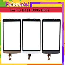 10Pcs/lot For LG L Bello D331 D335 Touch L Prime D337 TV Touch Screen Touch Panel Sensor Digitizer Front Glass Outer Touchscreen touch panel for lg l bello d331 d335 d337 touch screen digitizer sensor glass lens with logo with tracking number