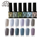 CHEGEL Long Lasting 1 pcs Locomotive Fashion Gray Nail Gel Polish Soak Off UV LED Nail Art Gel 12 Colors Resin Adhesive Gel