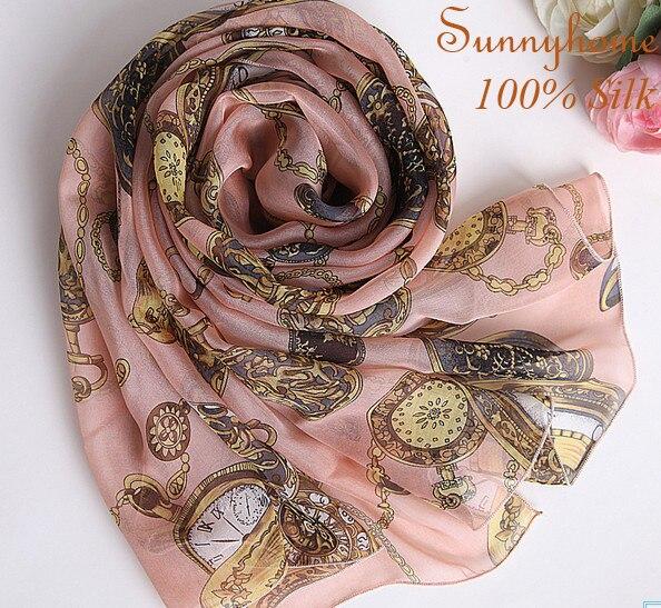 Mandala praia 100% soie cc montre écharpe fille printemps femmes et costume principal de mode femme echarpes marque hiver écharpes chaudes