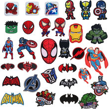 Nuevos vengadores parches de película Iron On Spider-Man Iron Man apliques Moive Star Iron en Batman bordado insignia ropa accesorio(China)