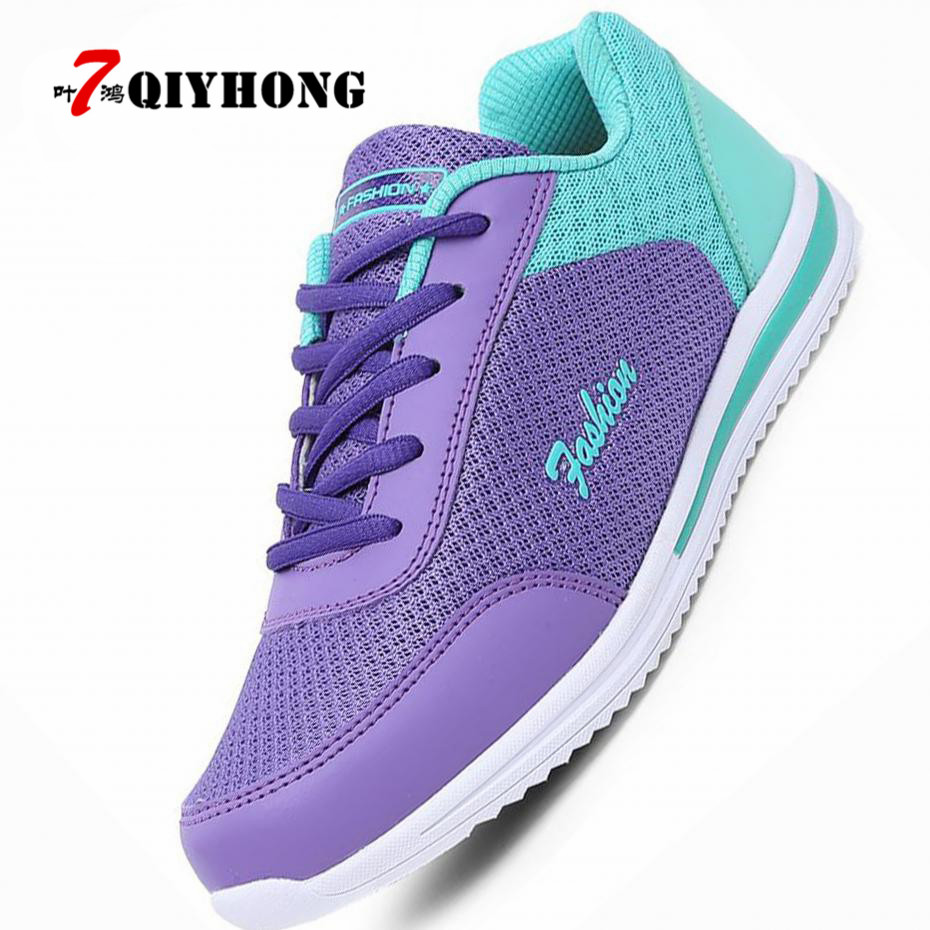 Hot Sales 2018 New Femme  Zapato Women Breathable Mesh Zapatillas Shoes Women Network Soft Casual Shoes Wild Flats Casual 35-40 hot sales 2016 new soft keyboard