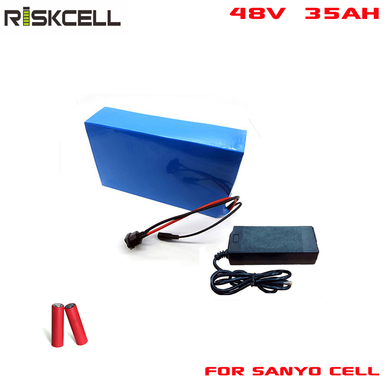 Без налогов литий-ионный аккумулятор 48 В 35ah литиевых глубокий цикл литий-ионный аккумулятор 48 В 2000 Вт батареи для sanyo ячейки
