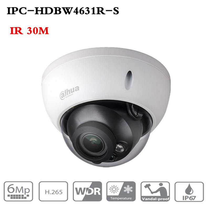DH POE Camera IPC-HDBW4631R-S 6MP IP Camera Upgrade From IPC-HDBW4433R Support IK10 IP67 Waterproof With POE SD Card Slot