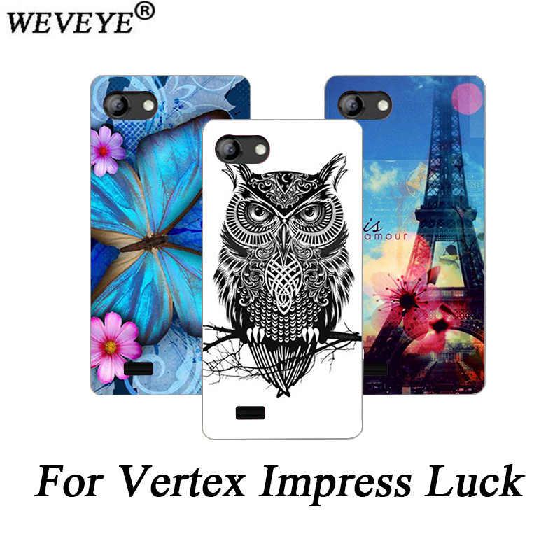 Dla Vertex Impress szczęście przypadku drukowane kwiaty Tiger sowa wieża eiffla projekt Case dla Vertex Impress Luck miękka TPU case powrót pokrywa
