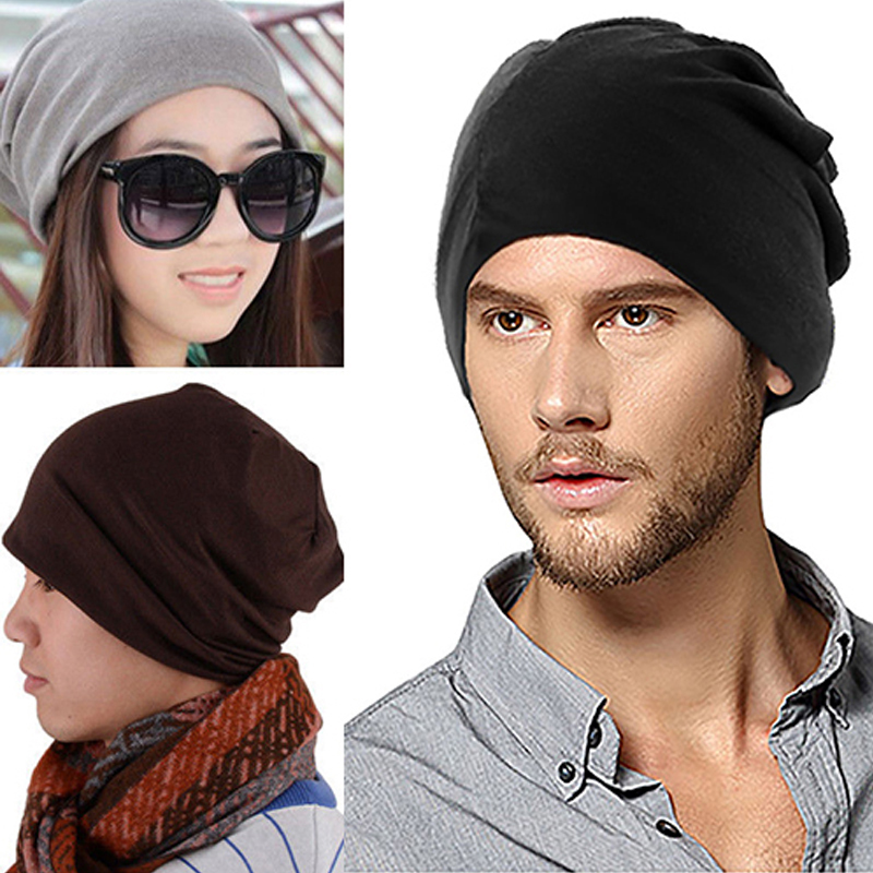 New Men Women Beanie Cap Solid Color Hip-Hop Winter Warm Baggy Beanie Unisex Hat bere erkek winter hats for men beanie