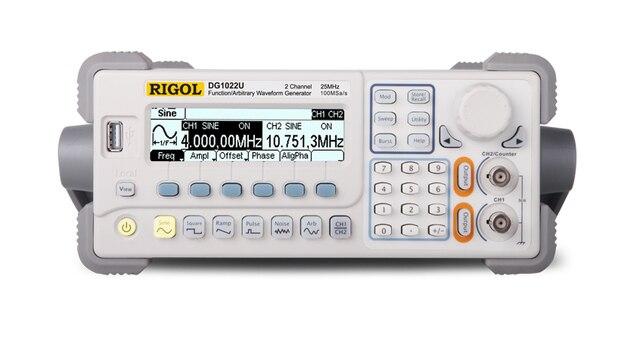 פונקצית RIGOL DG1022U מחולל אותות/שרירותי Waveform 25 MHZ 2 ערוצי פלט 5 צורות גל סטנדרטיים